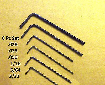 Hex Allen Wrench Short Arm Set   028   035   050  1 16  5 64  3 32 Free Ship