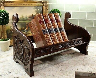 Antique English Oak Desktop Book Trough Bookcase Book Stand Book Bible Holder
