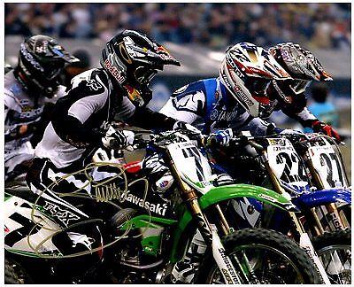 "JAMES ""BUBBA"" STEWART Signed Autographed SUPERCROSS Motocross ""AMA"" 8x10 Photo A"