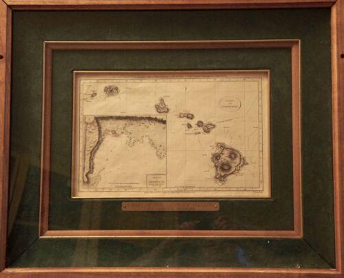 Chart of the Sandwich Isles (Hawaii) Sketch of Karakakooa Bay c. 1795 Original
