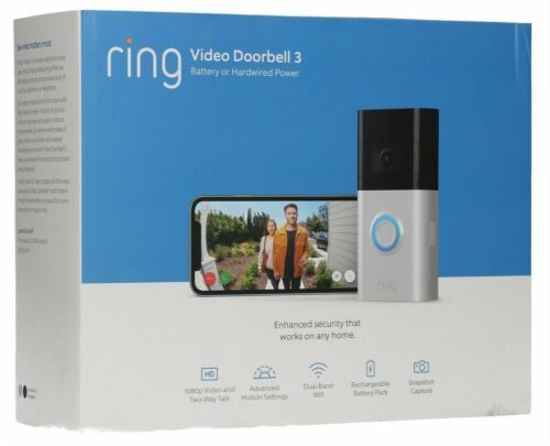 SEALED! Ring Video Doorbell 3 Wire-Free HD Video Doorbell 1 Year Warranty!