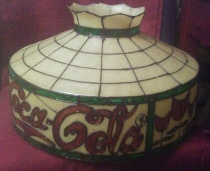 Vintage Coca Cola Lamp Shade A Nice Rare Find!