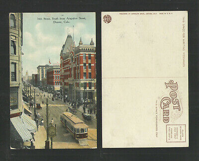 1910s 16th ST SOUTH FROM ARAPAHOE STREET DENVER COLORADO (Denver 16th St)
