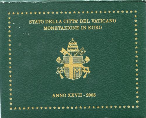 2002 Mint Set First Issue Vatican Official Euro coin  John Paul II