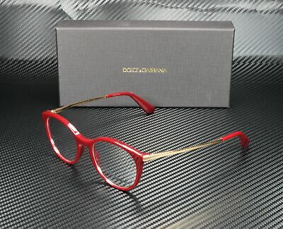 Dolce & Gabbana DG3242 3091 BORDEAUX DEMO LENS 48 mm Women's (Dolce And Gabbana Glasses Womens)
