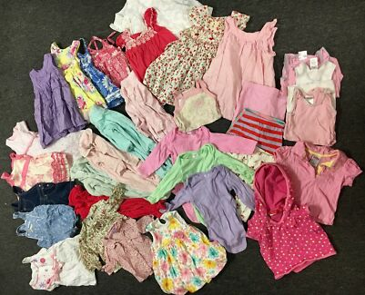 Baby Girl Clothes (Size 0) Package - 33 Items