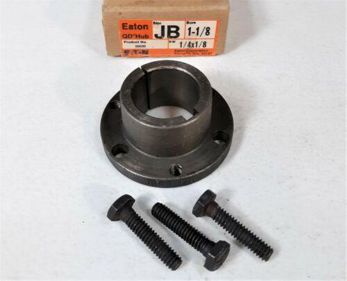 """EATON JB 1-1/8 QD Hub Shaft Bushing, 1-1/8"""" Bore, 1/4"""" KW, 50030, Reversible"""