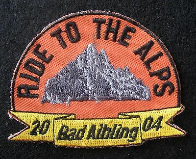 RIDE TO THE ALPS EMBROIDERED SEW ON ONLY PATCH BAD AIBLING GERMANY 2004
