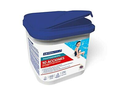 CLORO ASTRALPOOL -10 ACCIONES o Multiacción, 5 kg ,PASTILLAS 250GR.