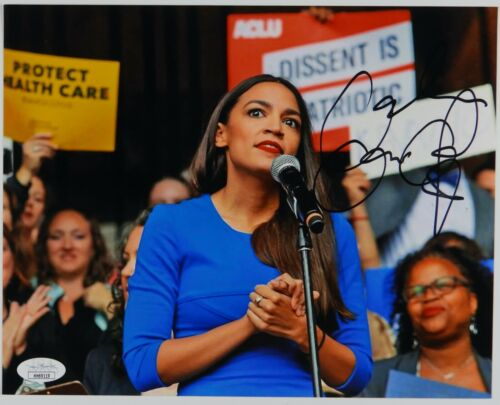 Alexandria Ocasio-Cortez AOC JSA Autograph Signed Photo COA 8 x 10