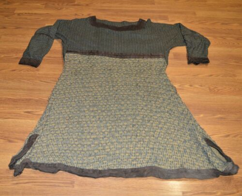 Vikings Screen Worn Wool Tunic with Leather Trim, Medieval Viking Leather Armor