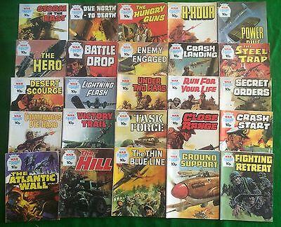 25 War Picture Library Comics 1970's Random Lot Battle Commando