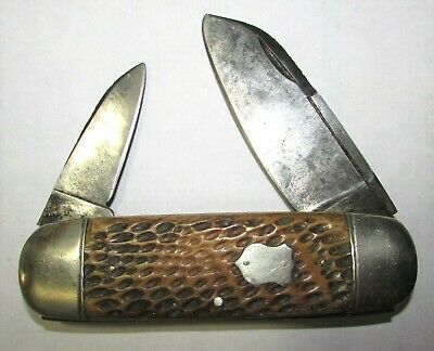 Rare Hibbard Spencer Bartlett Elephant Toe Sunfish Peachseed Bone Knife