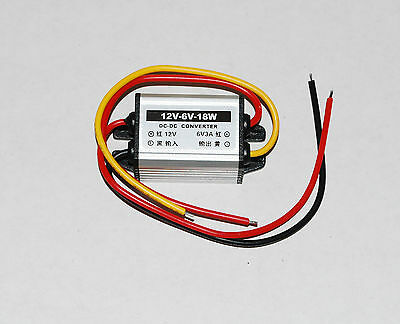 6V Converter 40-1470 Regulated Car Charger Power Adaptor 12V