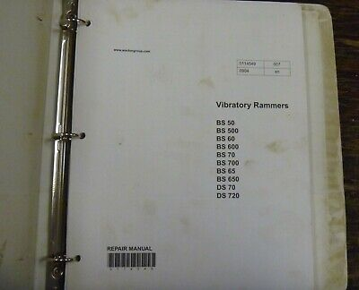 Wacker Neuson BS700 BS650 Rammer Tamper Compactor Shop Service Repair Manual  for sale  Shipping to Canada