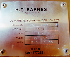 HT BARNES BANDSAW MK1 Brendale Pine Rivers Area Preview