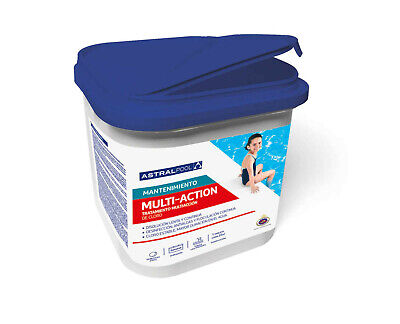 CLORO PARA PISCINA MULTIACCION Astral Pool (Multifuncion) 5kg, TABLETAS 250g