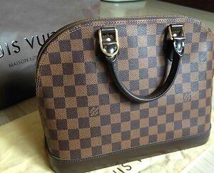 Louis Vuitton Alma Damier Ebene PM Tote Bag (Authentic!) Dust Bag Hampton Bayside Area Preview