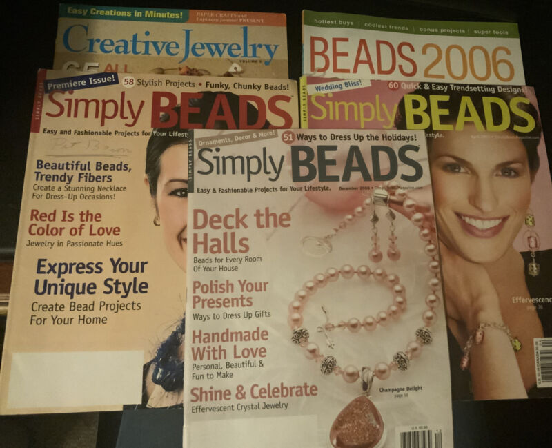 Lot of 5 Jewelry/Bead Magazines Various Issues