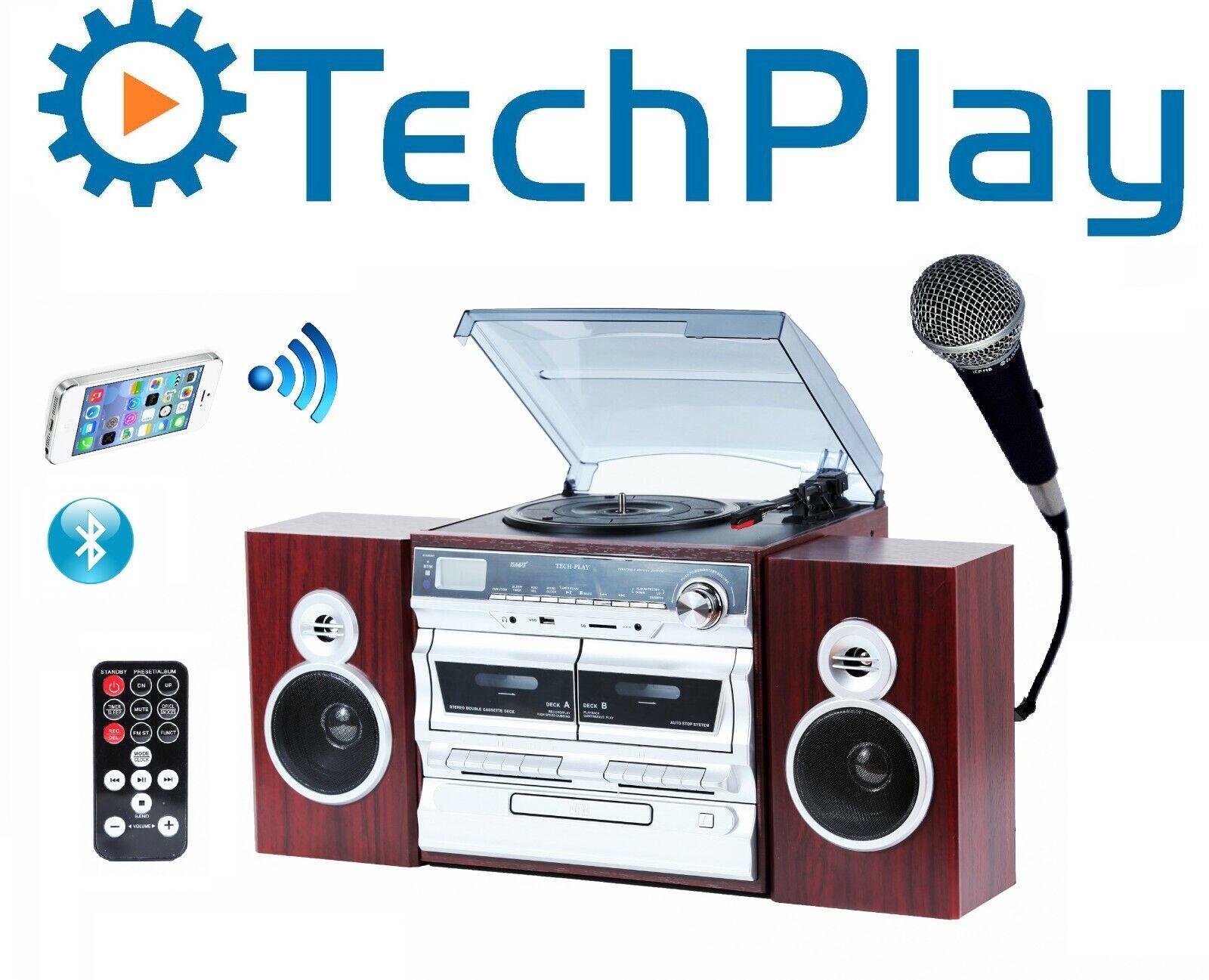 TechPlay ODC110, Hi power 30W, 3-Speed Retro Classic Turntab