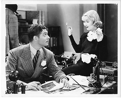 CLARK GABLE & CONSTANCE BENNETT – AFTER OFFICE HOURS – GLOSSY REPRO PHOTO