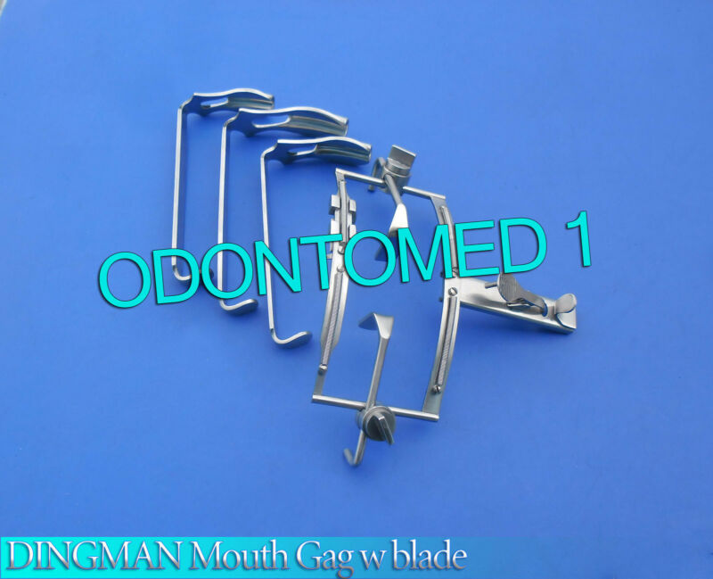 NEW DINGMAN Mouth Gag with Blades Surgical Dental Instruments