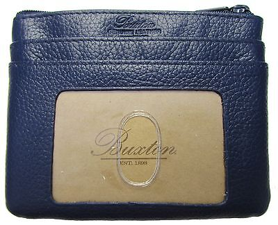 New Buxton Women's ID Coin Purse Card Case Wallet with RFID Protection