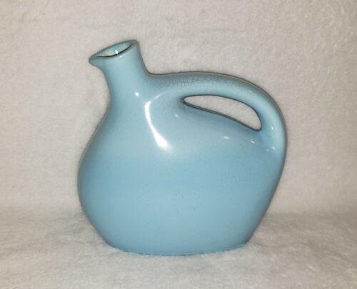 Vintage Mohawk Liquer Liquor Pottery Jug Decanter Bottle Light Blue