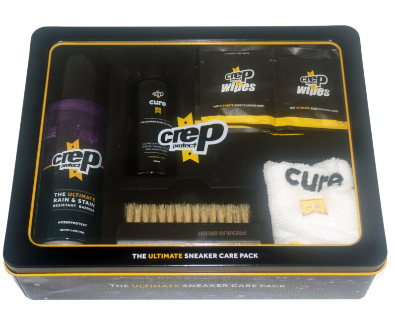 CREP PROTECT Ultimate Sneaker Care Pack Shoe Cleaner Protector Wipes Brush NEW