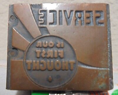 Vintage Printing Letterpress Printers Block Cut Service Is First Thought