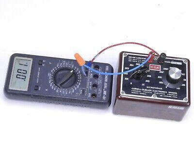 Cornell Dubilier Decade Capacitor 0.001-0.006f Range Model Cda 0.0001 F Grad