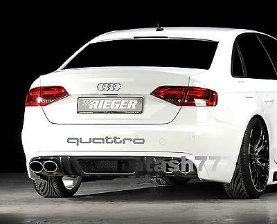 QUATTRO AUDI A4 A6 A8 RS3 RS4 Q5 S- Line Racing Decal sticker emblem logo SILVER