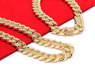 - Mens 14k Gold Plated Heavy Thick Cut Hip Hop Chain & Bracelet 30