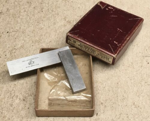 """STARRETT NO.20 - 2"""" MACHINISTS TRY SQUARE WITH BOX"""