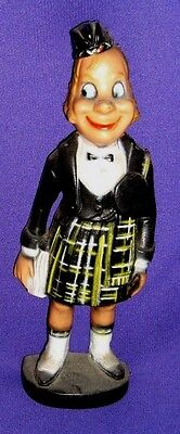 Scotsman in Kilt Figure - Vintage 10 inch Piper, Alan Insulated Bar Advertising