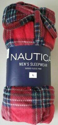 Men's Nautica Sleepwear Soft Fleece Lounge Pajama Pants With 2 Pockets Large