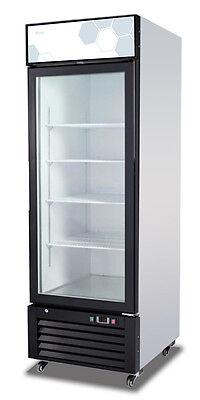 Migali C-23rm Single Door Refrigerator Glass Merchandiser Free Shipping