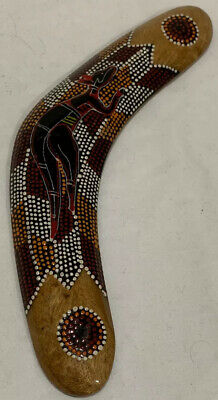 Classic Wooden Boomerang Aboriginal Design Hand Crafted Wood