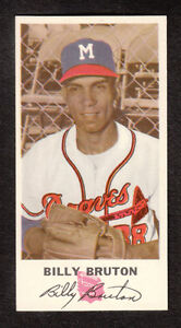 1954 Johnston Cookies #38 Billy Bruton Milwaukee Braves nrmt