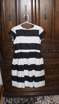 Gymboree Girls dress black and white with red bow size 10.