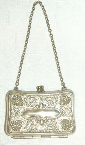 Sterling Silver Dance Card Holder Compact Purse Early 1900