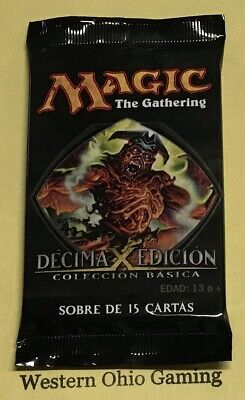 MTG Magic 10th Edition SPANISH Booster Pack from SEALED Box NEW Core Set - 10th Tenth Edition Core