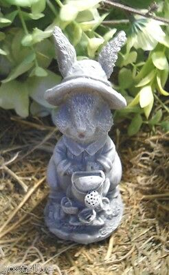 Latex rabbit mold with watering can  plaster cement casting garden mould for sale  Shipping to India