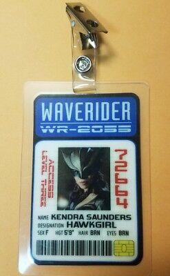 Legends Of Tomorrow Id Badge-Kemdra Saunders Hawkgirl Cosplay Kostüm (Hawkgirl Kostüm)