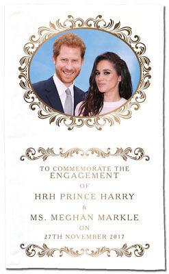 HRH Prince Harry & Ms Meghan Markle Engagement Commemorative Tea Towel
