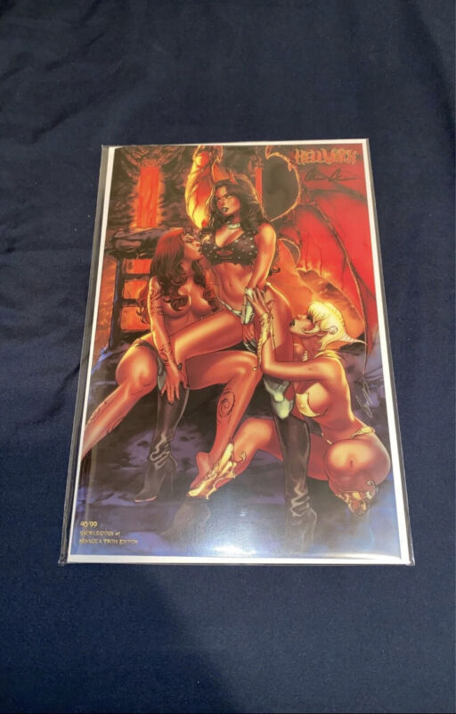 SIGNED Hellwitch Sacrilegious #1 Menage A Trois Nice Edition
