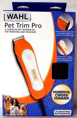 NEW Wahl Pet Dog Cat Clipper Trimmer Kit 8 Piece Grooming Kit 9307-2001