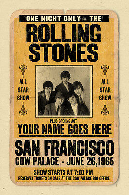 your name on a Rolling Stones concert poster!