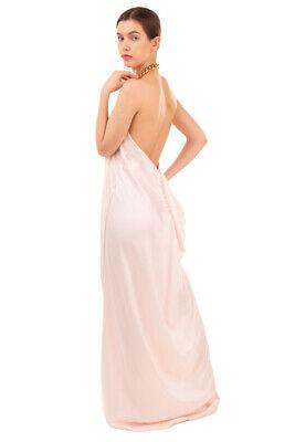 RRP €885 MM6 MAISON MARGIELA Maxi Dress Size 40 / S Halterneck Draped Back