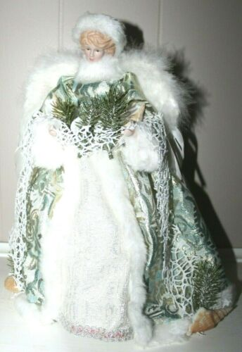 """Windy Hill Collection 14"""" Inch Standing Coastal Angel Christmas Tree Topper"""
